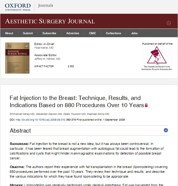 Research-Fat-Transfer-Breast-Augmentation-Results-Over-10-Years Study: Fat Grafting Breast Augmentation Results Over 10 Years and 880 patients | Northern Virginia